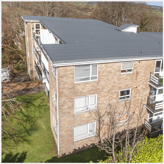 Flat Roofing installed at The Bluff residential building