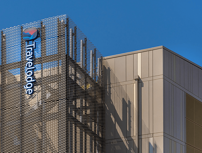 The Travelodge building at Elwick Place