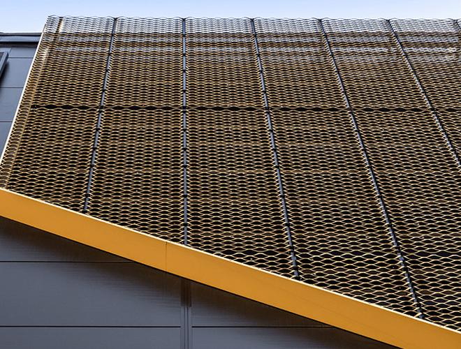 Yellow Cladding at Elwick Place