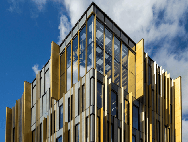 Rainscreen cladding panels installed at the University of Birmingham Library Banner Large