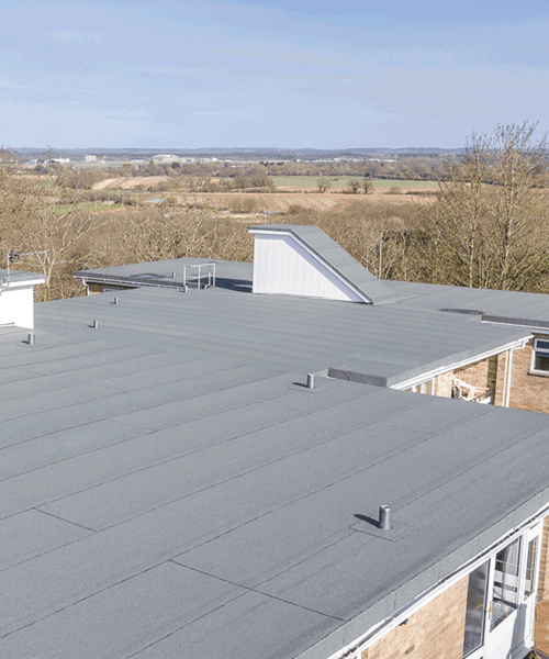 Flat roofing installed at the Bluff in Bournemouth