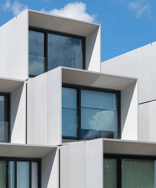 Cladding panels installed at the Dyson Institute