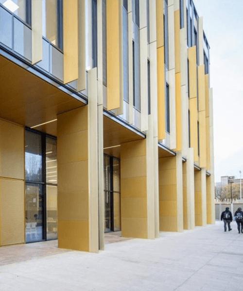 Walkway beside the University of Brimingham Library
