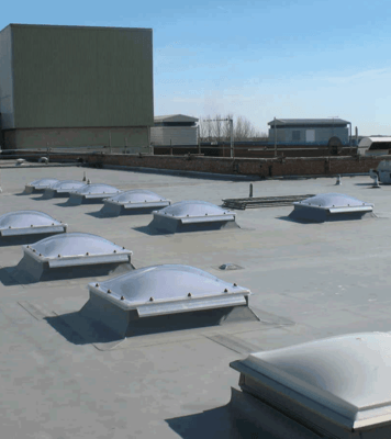 Single-Ply Flat Roofing at Eastbourne Hospital