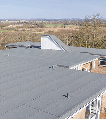 System 5000 flat roofing installed at the Bluff